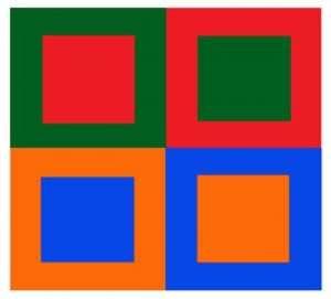 Kleuren met ultieme contrasten.