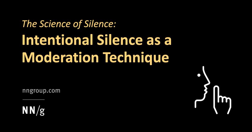 Stilte is een krachtige tool voor een goed podcast gesprek.